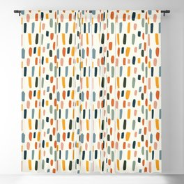 Rainbow Confetti Pattern Blackout Curtain