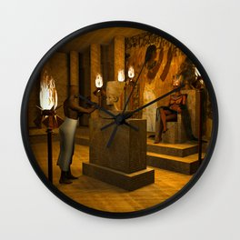 The creation of Queen Nefertiti's bust Wall Clock