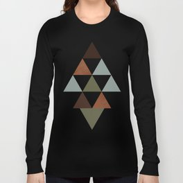 Being Mindful, Geometric Triangles Long Sleeve T-shirt