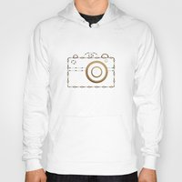 vintage camera Hoodies featuring Camera by Little Owl Oddities