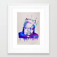 notorious big Framed Art Prints featuring Notorious by Fimbis