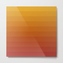Gradient, Yellow Red Metal Print