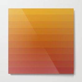Gradient, Yellow Red Metal Print