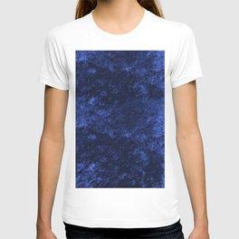 Royal blue navy velvet T-shirt