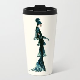 Vintage Vogue - Diesel Blue Fashion Dress Travel Mug