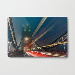 Foggy London Town - Tower Bridge Metal Print