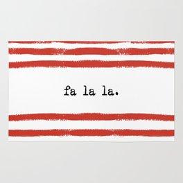 red stripes- fa la la Rug
