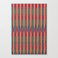 knitting Canvas Prints featuring Knitting Flames by VessDSign