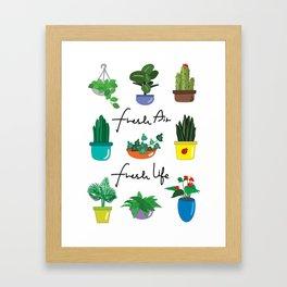 Fresh air fresh life Framed Art Print