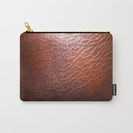 Rich Leather Carry-All Pouch