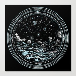 Miniature Circle Landscape 2: Astronausea.. Canvas Print