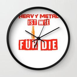 Heavy Metal Beer Festival Concert Funny Gift Wall Clock