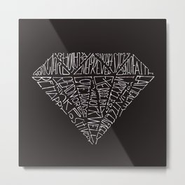 Black Diamond 14 Life Quotes Metal Print