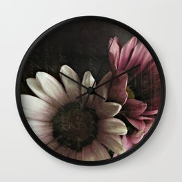 gazania flowers Wall Clock