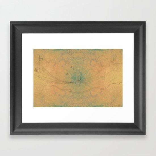 Spring landscape Framed Art Print