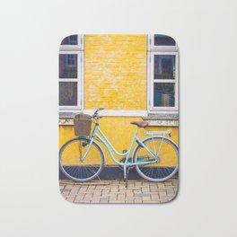 Bike and yellow Bath Mat