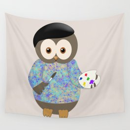 Owl Art is Subjective Wall Tapestry