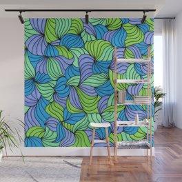 Green Waves Wall Mural