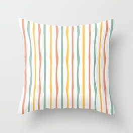 Stripes Stripped Pattern Muted Throw Pillow