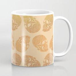 Skull doodle pattern - lighter 70s gradient palette - trippy seventies art Coffee Mug
