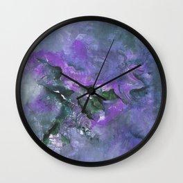 Nebula in Lavender Wall Clock