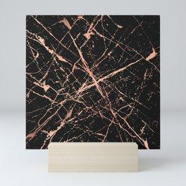 Copper Splatter 091 Mini Art Print