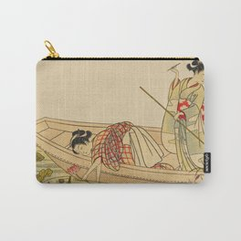 Women Gathering Lotus Blossoms Carry-All Pouch