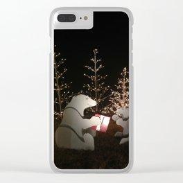 Polar Bear Christmas Clear iPhone Case