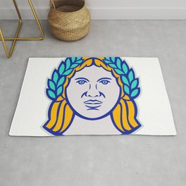 Ceres Roman Agricultural Deity Mascot Rug