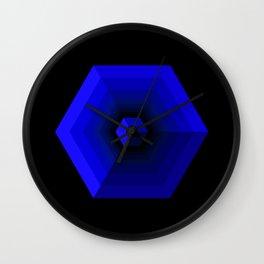 HEXACUBE BLUE Wall Clock