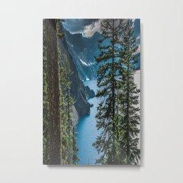 Blue Crater Lake Oregon in Summer Metal Print