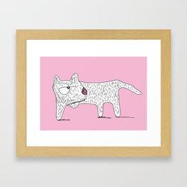 Perro Cojo / Lame Dog - pink Framed Art Print