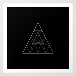 Abstraction 029 - Minimal Geometric Triangle Art Print