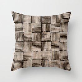 Crosshatch Black  Throw Pillow
