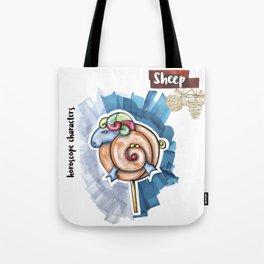 Sheep Horoscope Tote Bag