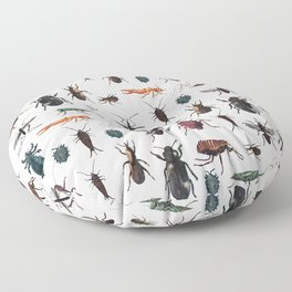 Color Insects Pattern Floor Pillow