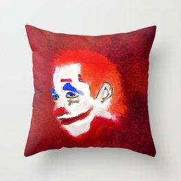Scary Clown, Horror, Sinister, Red,  Throw Pillow