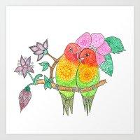 My Love Birds Art Print