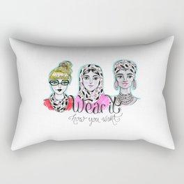 Wear it how you want Rectangular Pillow