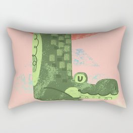 Yoga Croc Rectangular Pillow