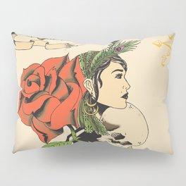 Woman Rose Pillow Sham