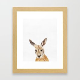 Kangaroo, Animal, ZOO, Nursery, Minimal, Modern, Wall art Art Print Framed Art Print