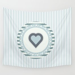 Blue heart Wall Tapestry
