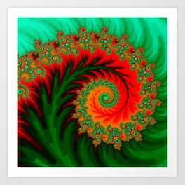 fractal design -51- Art Print