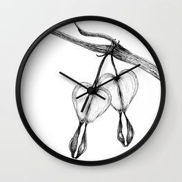 Bleeding Hearts Wall Clock