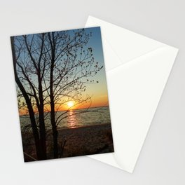 Sunset at Pere Marquette Beach Stationery Cards