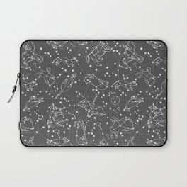 Constellations animal constellations stars outer space night sky pattern by andrea lauren grey Laptop Sleeve