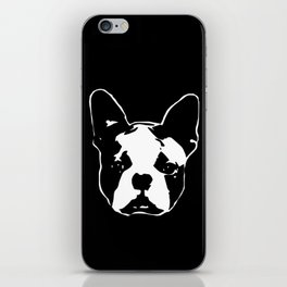 GIFTS FOR THE  BOSTON TERRIER DOG LOVER GIFT WRAPPED FOR YOU FROM MONOFACES iPhone Skin