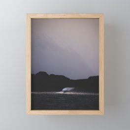 Lonely wave Framed Mini Art Print