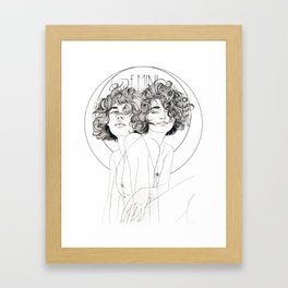 Gemini Zodiac (The Twins) Framed Art Print